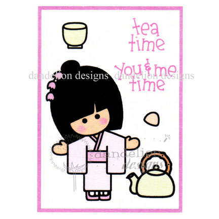 MC-24 Tea Time Dandelion Stamp - www.HankoDesigns.com MC24 Ocha