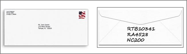 Envelopes Self Addressed 2016 Sample