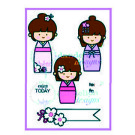 mc-6mc-60 Enjoy Today Dandelion Stamp Unmounted 2016 Kokeshi Girls