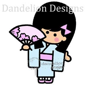 sc3 sachi with fan Dandelion Designs SC03