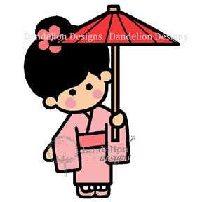 SC-4 Keiko with Umbrellax Dandelion Designs - www.HankoDesigns.com SC04