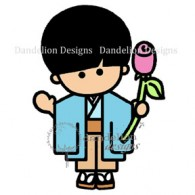 sc7 kenji with rosex Dandelion Stamp www.HankoDesigns.com