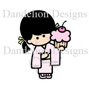junko with cupcake Dandelion SC06 2016