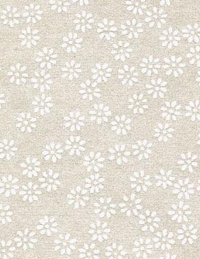 RKAW10565 White Satin Floral Japanese Yuzen Washi Paper - www.HankoDesigns.com