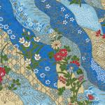 RTB10273 Blue Field Washi Paper - www.HankoDesigns.com