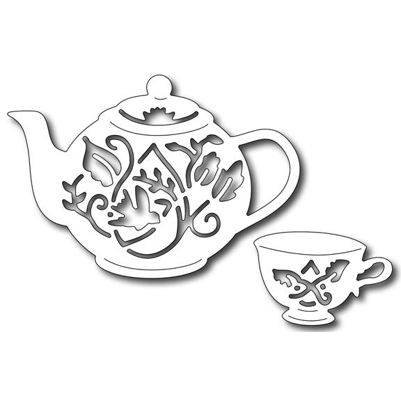 FRA09338 tea pot cup 2017 Frantic Stamper