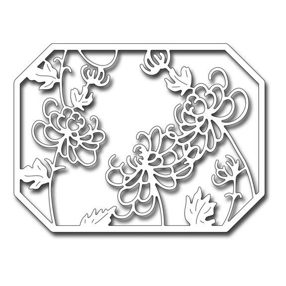 FRA10055 Chrysanthemum Panel Die 2016 Frantic