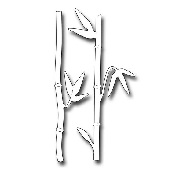 fra10057 bamboo stalks Die 2017 Frantic Stamper