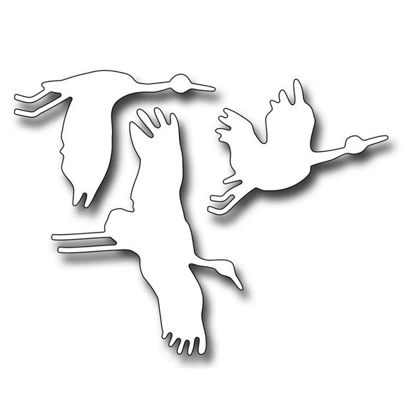fra10064 flying cranes die 2017 Frantic Stamper