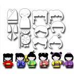 FRA10067 (Small) Kokeshi Paper Doll Die Set
