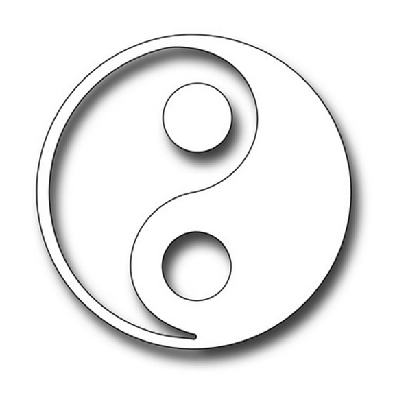 FRA10070 Yin and Yang Symbol 2017 Frantic Stamper