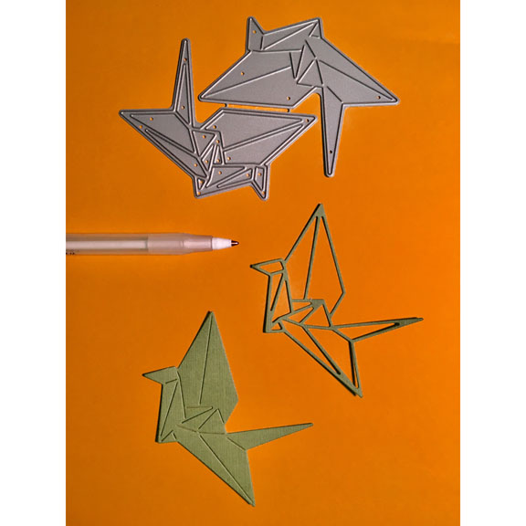 FRA-DIE-10065 Origami Crane Frantic Die 2017 www.hankodesigns.com