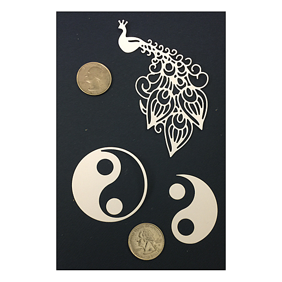 Yin Yang Peacock Sample Die Frantic Stamper 2017