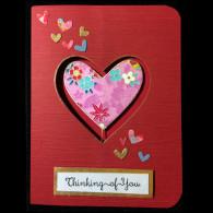14001 Spring Heart Cathy Scrivnor Sample Card
