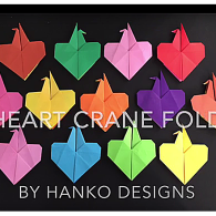 170206 Heart Crane Fold Video Image Kathy 2017 Origami