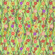 RKB2843 Green Sakura Tide Washi - Japanese Bulk Washi Paper - www.HankoDesigns.com 2017