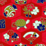 RKB2859 Red Good Luck Washi
