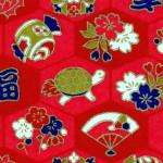 RKB2859 Red Good Luck Washi - Bulk Washi Paper - www.HankoDesigns.com 2017