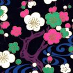RKB2887 Midnight Plum Blossoms Washi - Japanese Bulk Washi Paper - www.HankoDesigns.com 2017