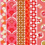RKB2892 Asian Peach Pastel Washi - Japanese Bulk Washi Paper - www.HankoDesigns.com 2017
