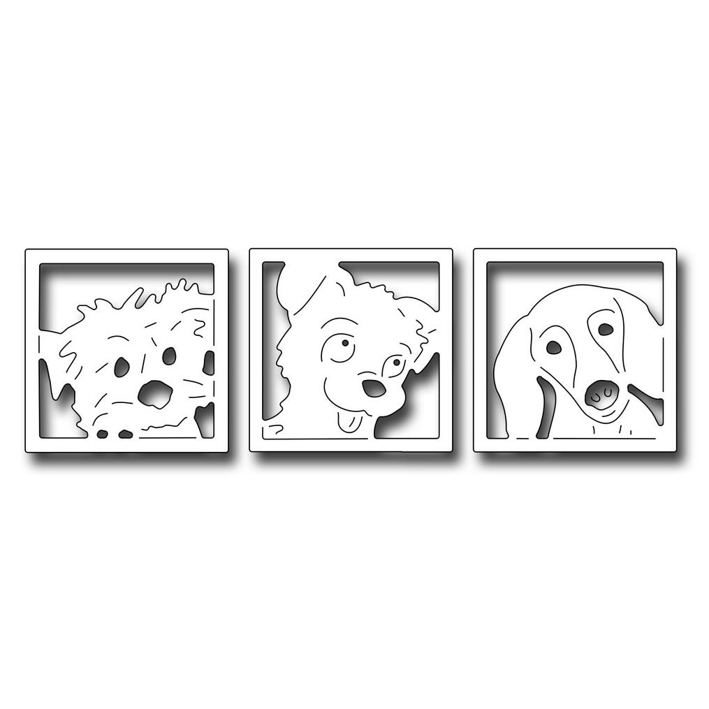 SECDFRA10079 Peeking Pups Dog Die 2017 Frantic