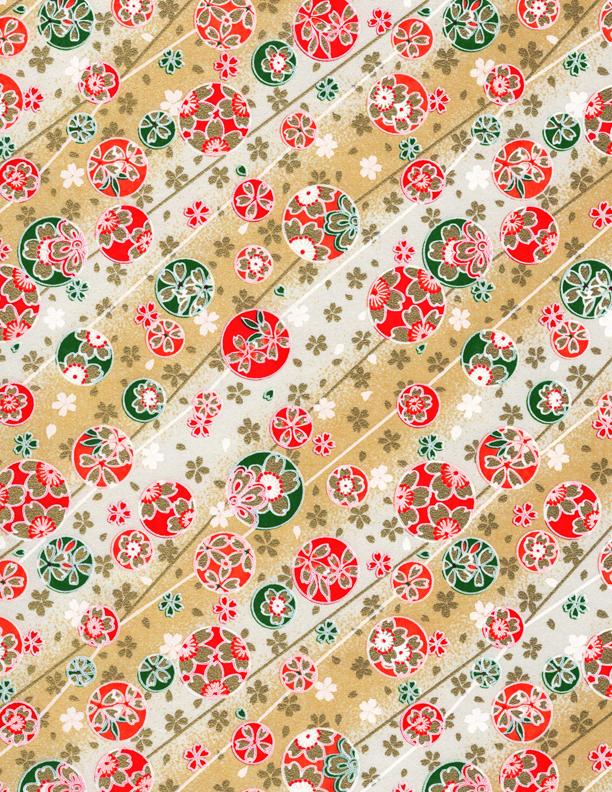 RKB2816 Golden Sakura Bubbles Washi - www.HankoDesigns.com 2017 - 8.5 x 11 Bulk