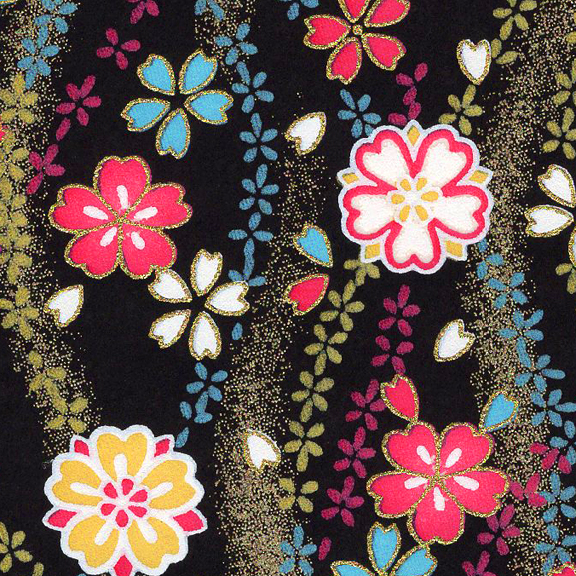 RKB2840-72CloseUp02 Midnight Sakura Tide Washi - www.HankoDesigns.com 2017 - 8.5x11