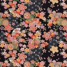 RKB2846 Midnight Elegant Floral Washi Paper - 8.5x11 - www.HankoDesigns.com Bulk