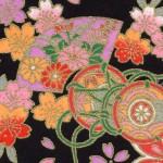 RKB2846 Midnight Elegant Floral Washi Paper