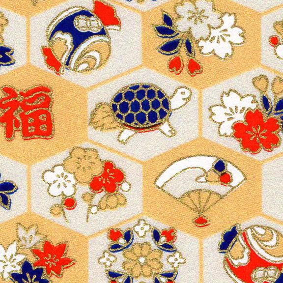 RKB2864-72CloseUp01 Golden Good Luck Washi - www.HankoDesigns.com 2017