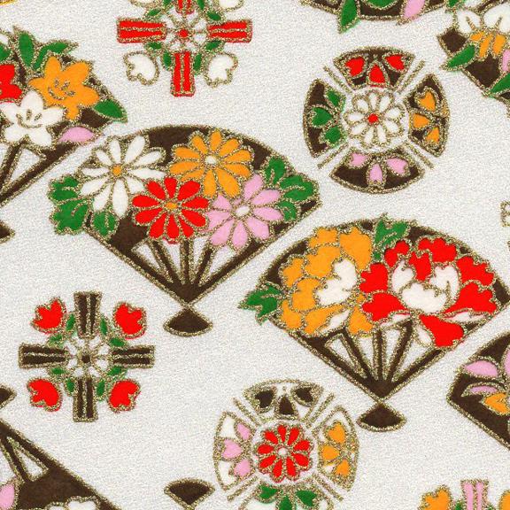 RKB2871-72CloseUp02 RKB2871-72CloseUp01 Spring Floral Fans Washi - www.HankoDesigns.com 2017