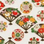 RKB2871 Spring Floral Fans Washi