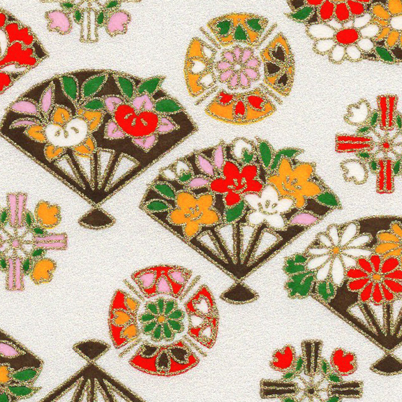 RKB2871-72CloseUp03 RKB2871-72CloseUp01 Spring Floral Fans Washi - www.HankoDesigns.com 2017