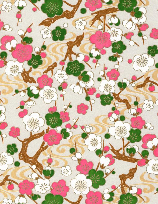 RKB2891 Spring Sakura Branches Washi - 8.5 x 11 - www.HankoDesigns.com 2017 Bulk
