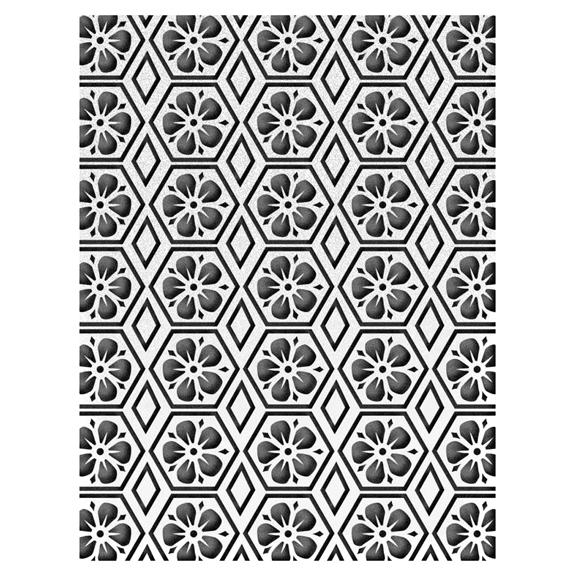 0000658933 ULT157187 Floral Honeycomb Honey Comb Embossing Folder - 2017 www.HankoDesigns.com