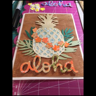 2017 Pineapple Aloha Card by Rente Winter 2017