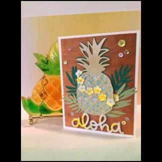 2017 Pineapple Aloha Card by Rente Winter 2017