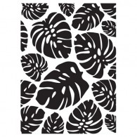 30023119 Tropical Leaves Embossing Folder - Darice 2017 - www.HankoDesigns.com
