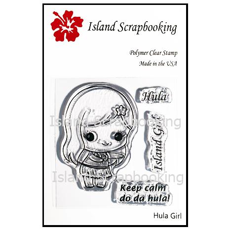 SECSIS002 Hula Girl Stamp Set 2017 Island Scrapbooking