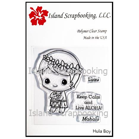 SECSIS001 Hula Boy Stamp Set 2017 Island Scrapbooking