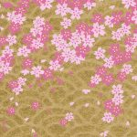 RTBSD11G Washi Paper Gold Sakura Rain 2018 Hanko Designs