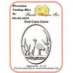 FRA10579 Oval Crane Scene - Frantic Stamper - www.HankoDesigns.com