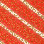 RTB11105 Golden Vines Red and White Washi - www.HankoDesigns.com