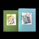 WFF507 Purple Turquoise Birthday - Washi Fancy Folds Greeting Card Kit