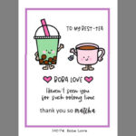 DLMC-74 Boba Love Stamps - Dandelion Designs